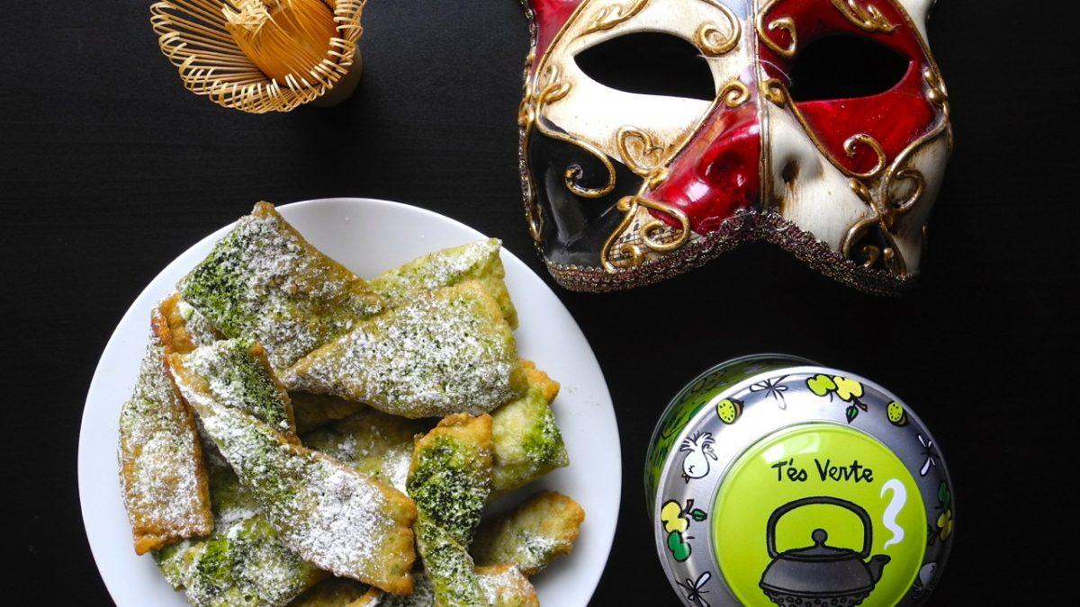 La ricetta delle chiacchiere di Carnevale al tè verde