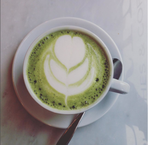 Matcha cappuccino da Panini Durini a Milano