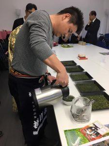 Tè verde Fukamushi di Kakegawa in Giappone