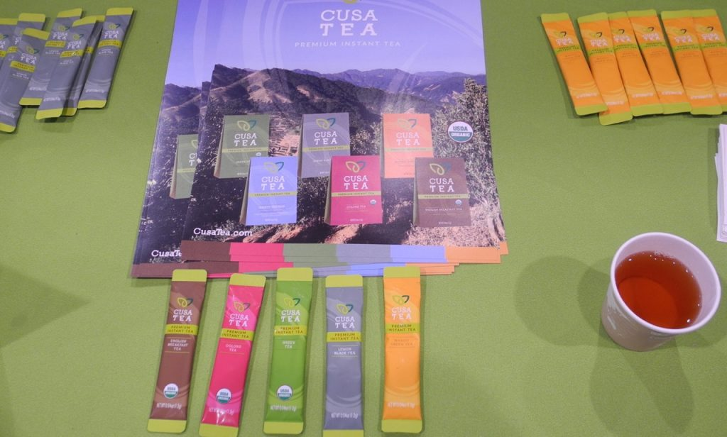 Cusa tea, il tè in polvere, al World Tea Expo