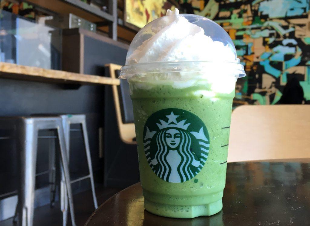 Da provare il matcha frappuccino di Starbucks