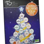 Calendario dell'avvento a tema tè biologico ed equo-solidale
