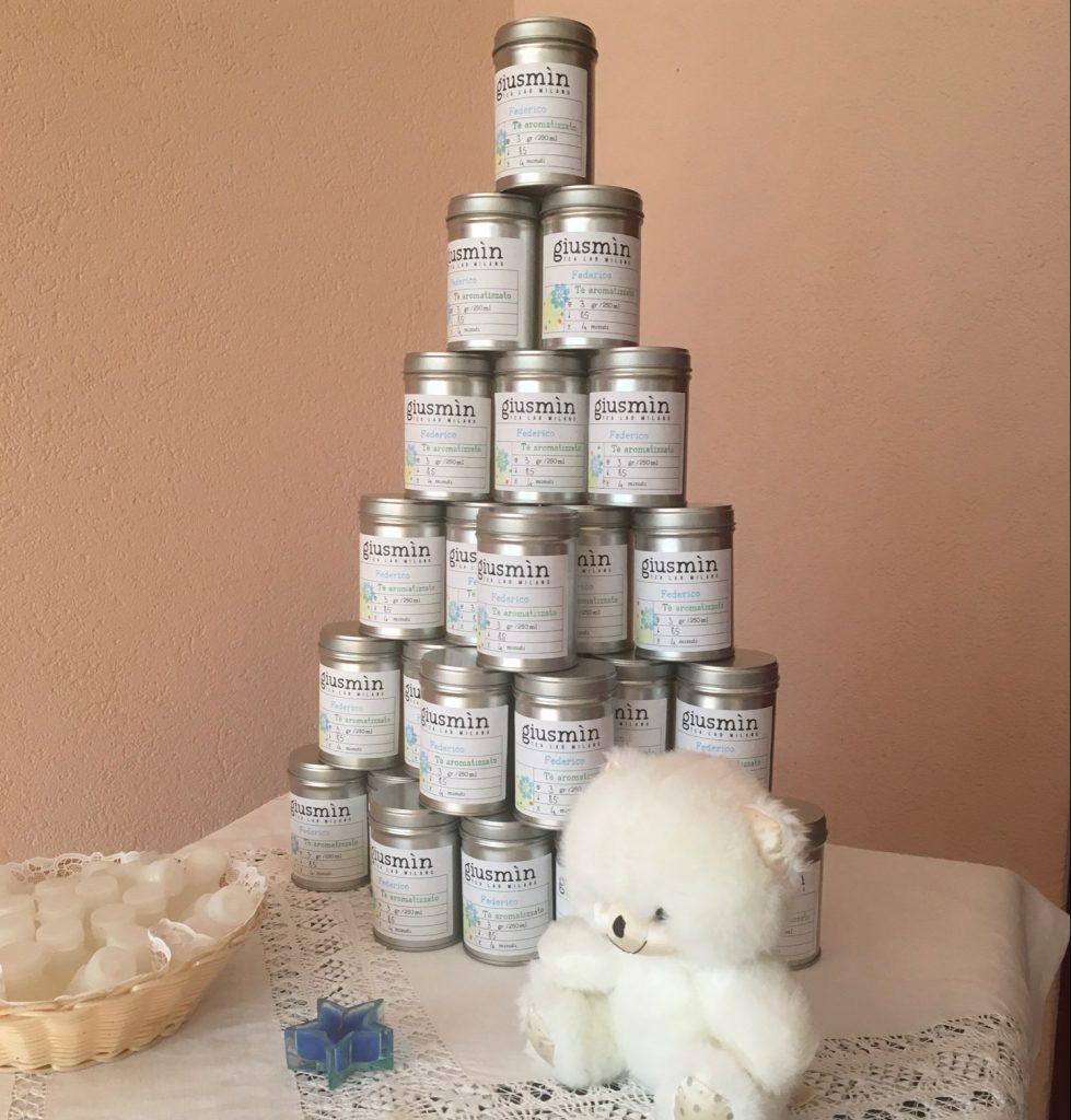 Idee per la bomboniera di un battesimo a tema tè