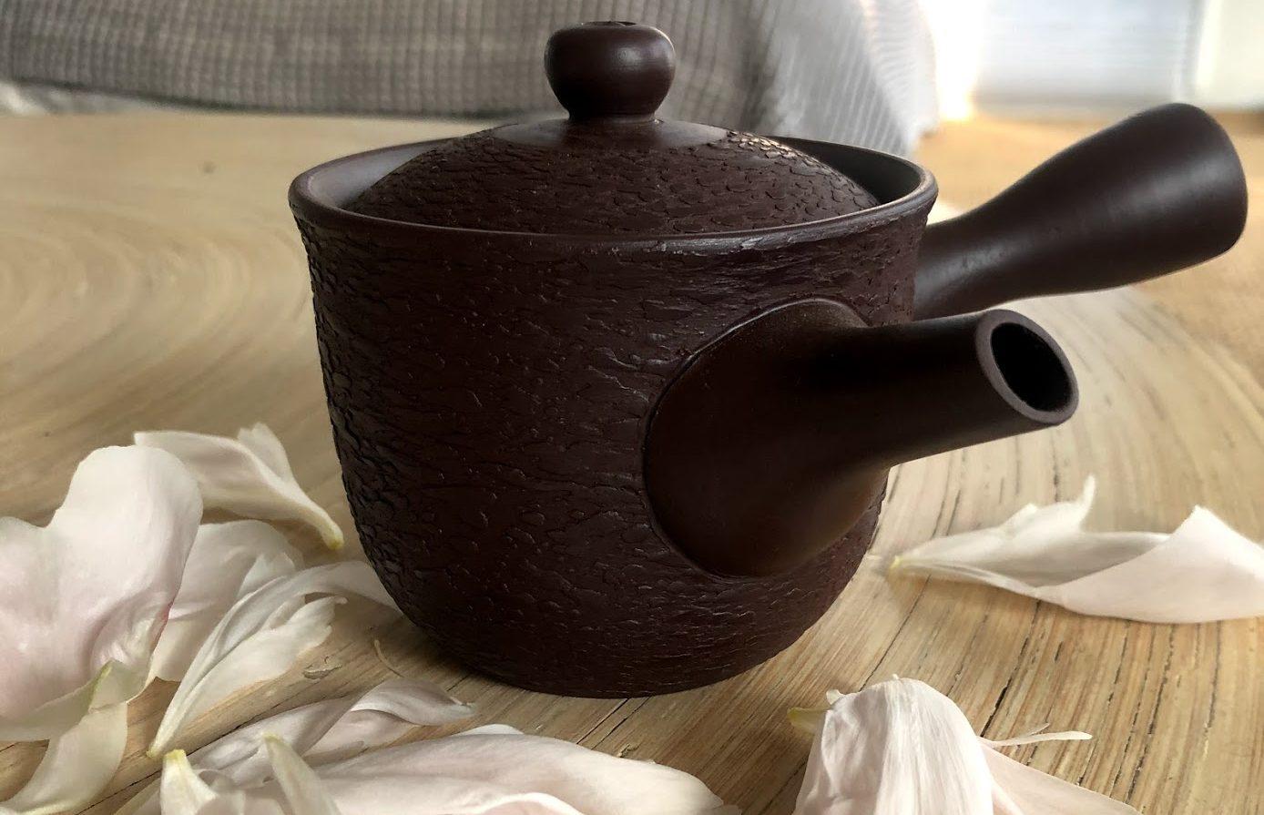 Set giapponese per il tè con teiera kyushu
